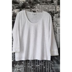 AMOUR VERT White Long Sleeve Tee Size L